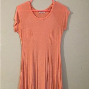 Light Orange Form-Fitting Dress